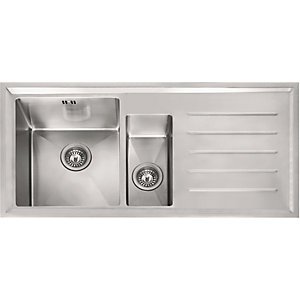 Franke Winsford 1.5 Bowl Inset Stainless Steel Right Hand Drainer Kitchen Sink