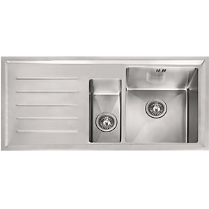 Franke Winsford 1.5 Bowl Stainless Steel Sink Left Hand