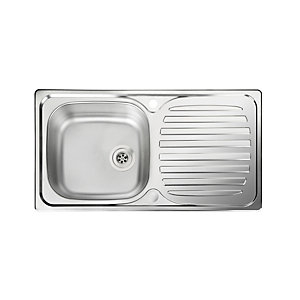 Rangemaster Euroline Compact 1 Bowl Inset Stainless Steel Kitchen Sink
