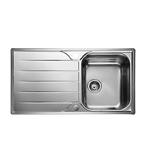 Rangemaster Leisure Albion 1 Bowl Inset Stainless Steel Kitchen Sink