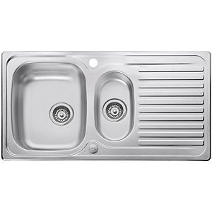 Rangemaster Leisure Linear 1.5 Bowl Inset Stainless Steel Kitchen Sink