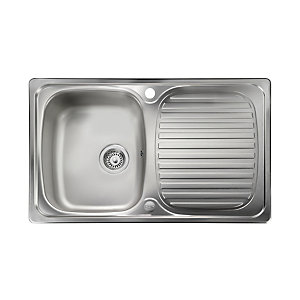 Rangemaster Leisure Linear Compact 1 Bowl Inset Stainless Steel Kitchen Sink