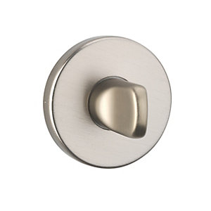 Urfic Bathroom/WC Thumbturn Escutcheon Brushed Aluminium