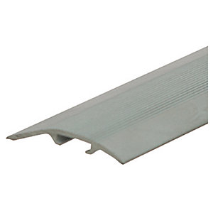 Unika Aluminium Threshold Floor Profile Silver 2.7m