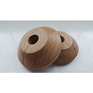 Unika Solid Wood Lacquered Pipe Rose Oak 44mm x 44mm x 15mm - 2 Pack