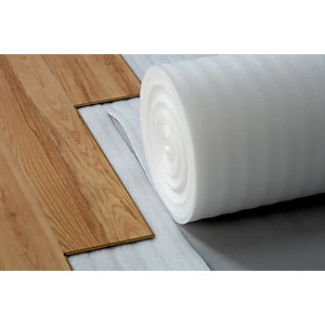 4TRADE Comfort White Foam Flooring Underlay For Laminate and Engineered Flooring 15m x 1m x 2mm
