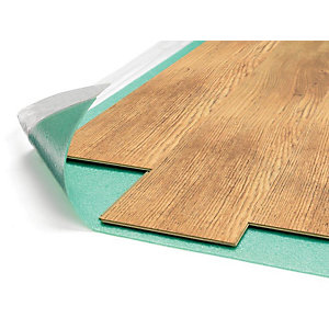 Novostrat Combat Foam Underlay with Moisture Barrier 15m x 1m x 3mm - For Laminate and Engineered Flooring