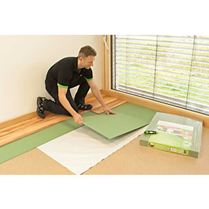 Steico Fibreboard Undelay Green Pack Coverage 10.03m2 - For Laminate,Engineered and Solid Wood Flooring