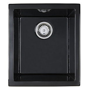 Astracast Onyx 1.0 Bowl Ceramic Black Undermount / Inset Sink