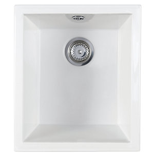 Astracast Onyx 1.0 Bowl Ceramic White Undermount / Inset Sink