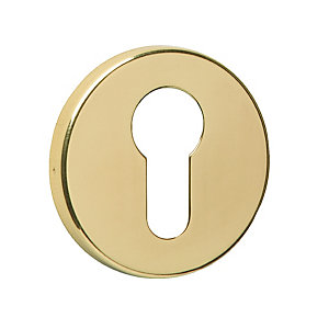 Urfic Escutcheon Euro Profile Polished Brass