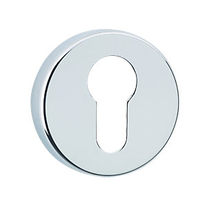 Urfic Round Euro Lock Escutcheon Chrome