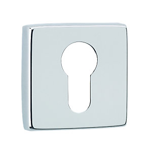 Urfic Square Euro Lock Escutcheon Chrome