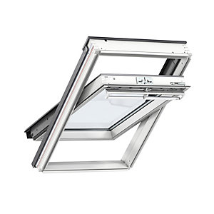 Velux Centre Pivot Roof Window 550 x 1180mm White Painted Ggl CK06 2070