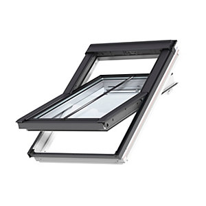 VELUX Conservation Centre-pivot Roof Window and Flashing White 550mm x 1180mm GGL CK06 SD5J2