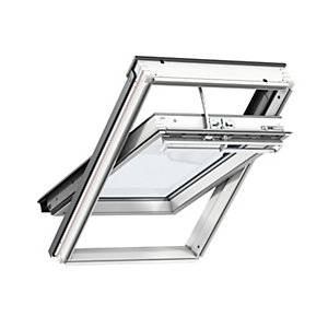 Velux Integra Electric White Painted Centre Pivot Roof Window 1340 x 980mm