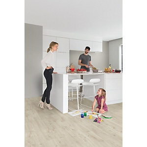 Quick Step Luxury Vinyl Tile Wood Effect Canyon Oak Beige Flooring 1251 x 187 x 4.5mm Pack Size 2.105m2