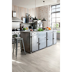 Quick Step Luxury Vinyl Tile Wood Effect Canyon Oak Grey with Sawcuts Flooring 1251 x 187 x 4.5mm Pack Size 2.105m2