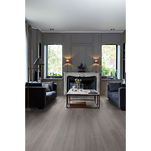 Quick Step Luxury Vinyl Tile Wood Effect Silk Oak Dark Grey Flooring 1251 x 187 x 4.5mm Pack Size 2.105m2