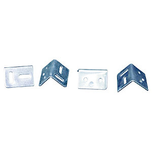 38mm Stretcher Plates Pack of 4 Zinc Plated