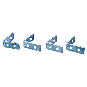 4TRADE Corner Braces Zinc Plated Pack of 240mm