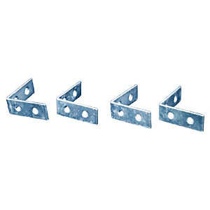 Corner Braces 75mm Pack of 4 Zinc Plated